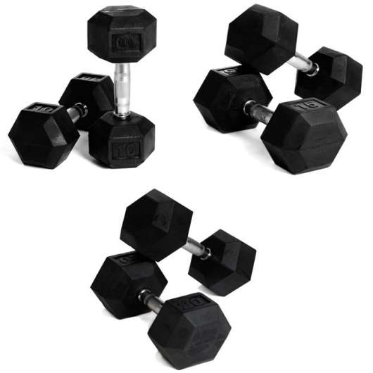 Abilica HEX Dumbbell Set 10-20 kg