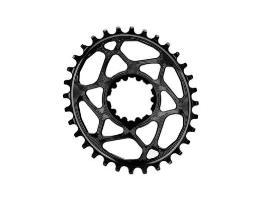 Absolute Black Chainring Direct Mount Singlespeed 32T Black Oval, 1X10/11/12