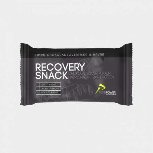 Återhämtningsbar PurePower Recovery Snack Oat, Chocolate Coated, 60 gram