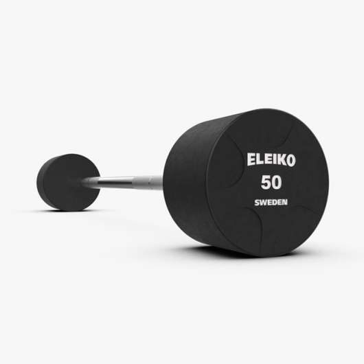 Eleiko Vulcano Fixed Weight Bar Set, Fast skivstång