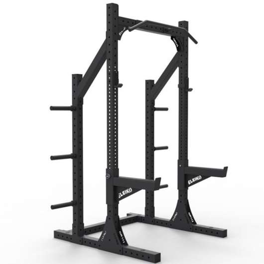 Eleiko XF 80 Half Rack Hybrid med Safety Arms - Black
