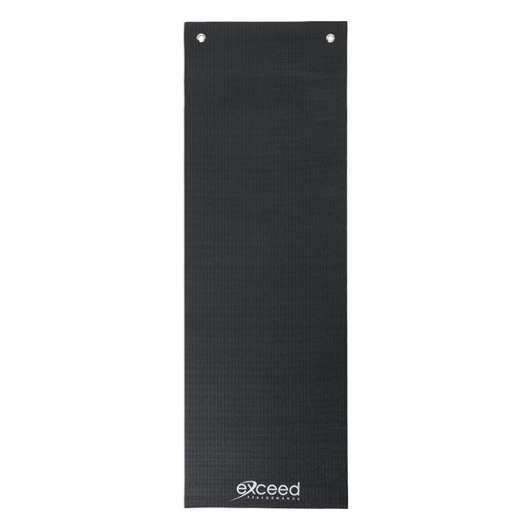 Exceed Yoga Mat with Eyelets, Black - 1800x600x5mm