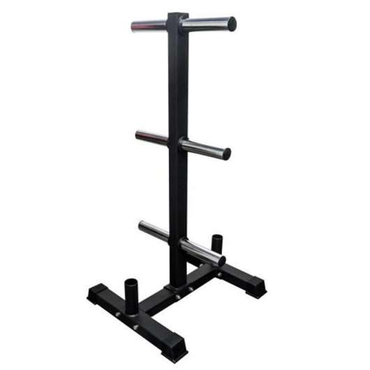 FitNord Bumper Weight rack with two