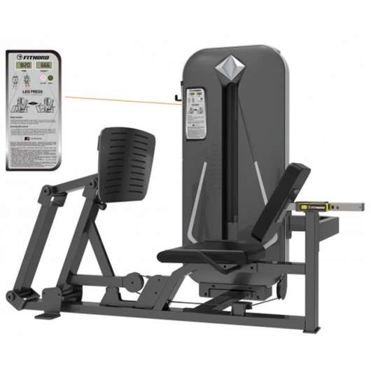 FitNord Diamond Leg Press, Styrkemaskin Ben