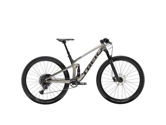 Trek Top Fuel 9.7 Grå/Svart XL Grå/Svart
